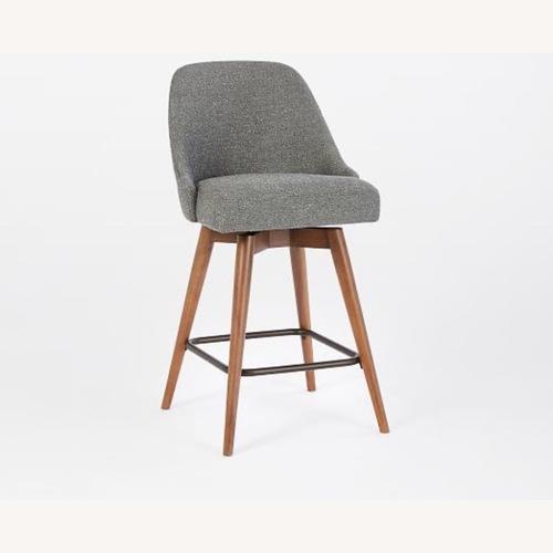 Used West Elm Mid-Century Upholstered Swivel Counter Stool for sale on AptDeco