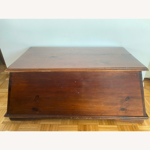 Used Pier 1 Imports Solid Wood Pyramid Trunk for sale on AptDeco