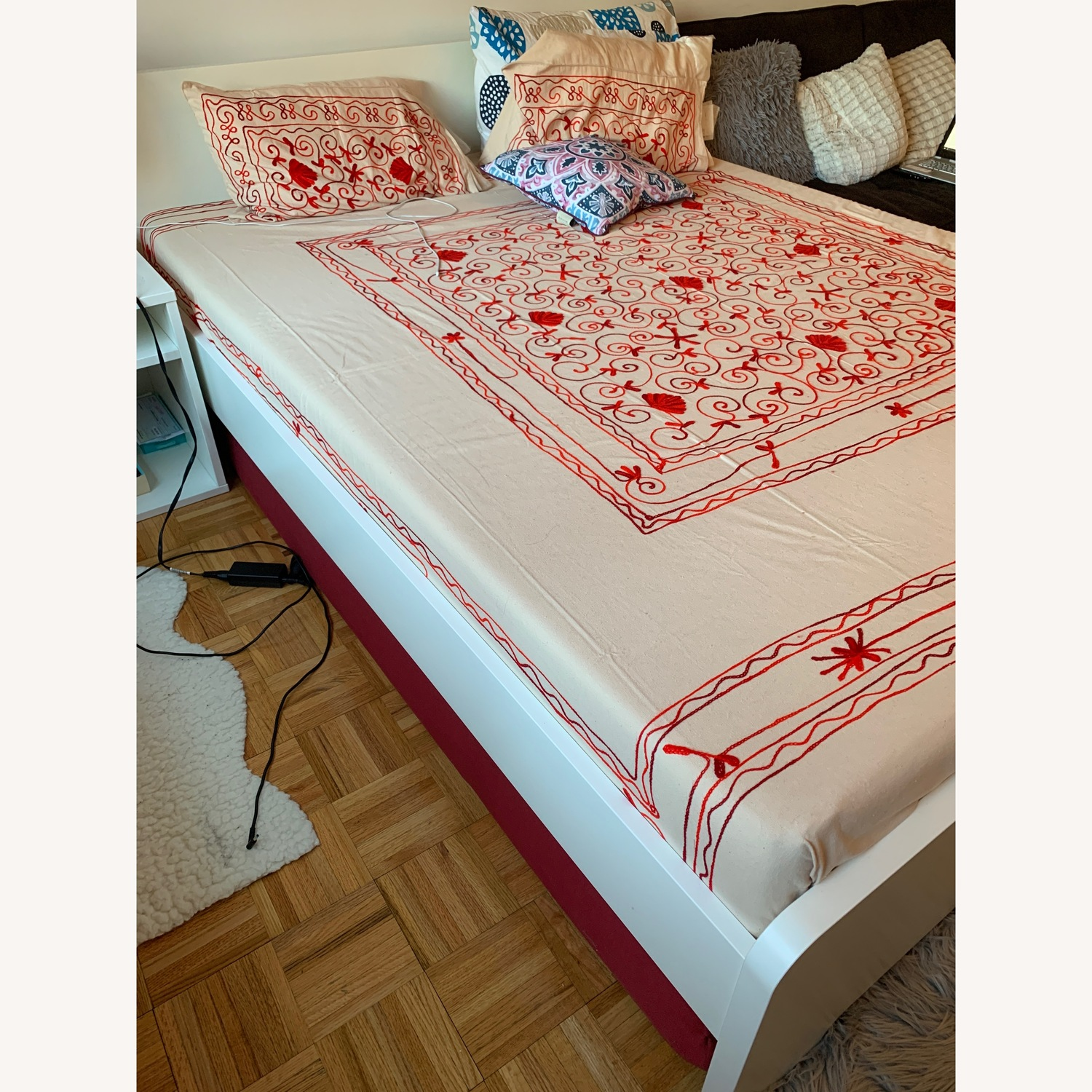 IKEA Queen White Bed Frame