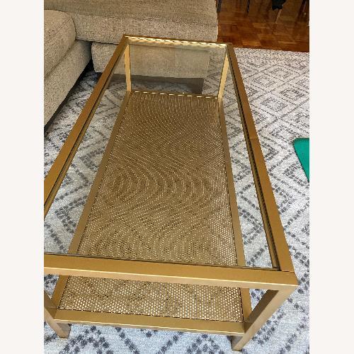 Used AllModern Gold Glam Rectangular Coffee Table for sale on AptDeco
