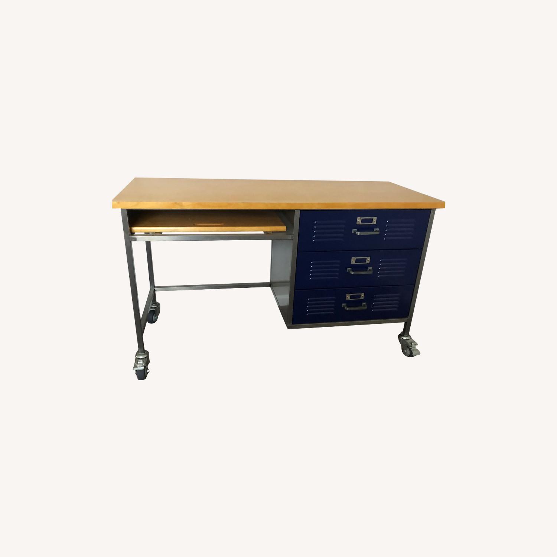 Pottery Barn Teen Locker Collection Desk Navy Aptdeco