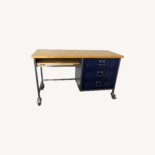 Used Pottery Barn Teen Locker Collection Desk-Navy for sale on AptDeco