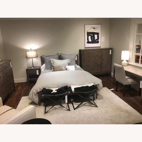 Used Room and Board Solid Wood Queen Bed for sale on AptDeco
