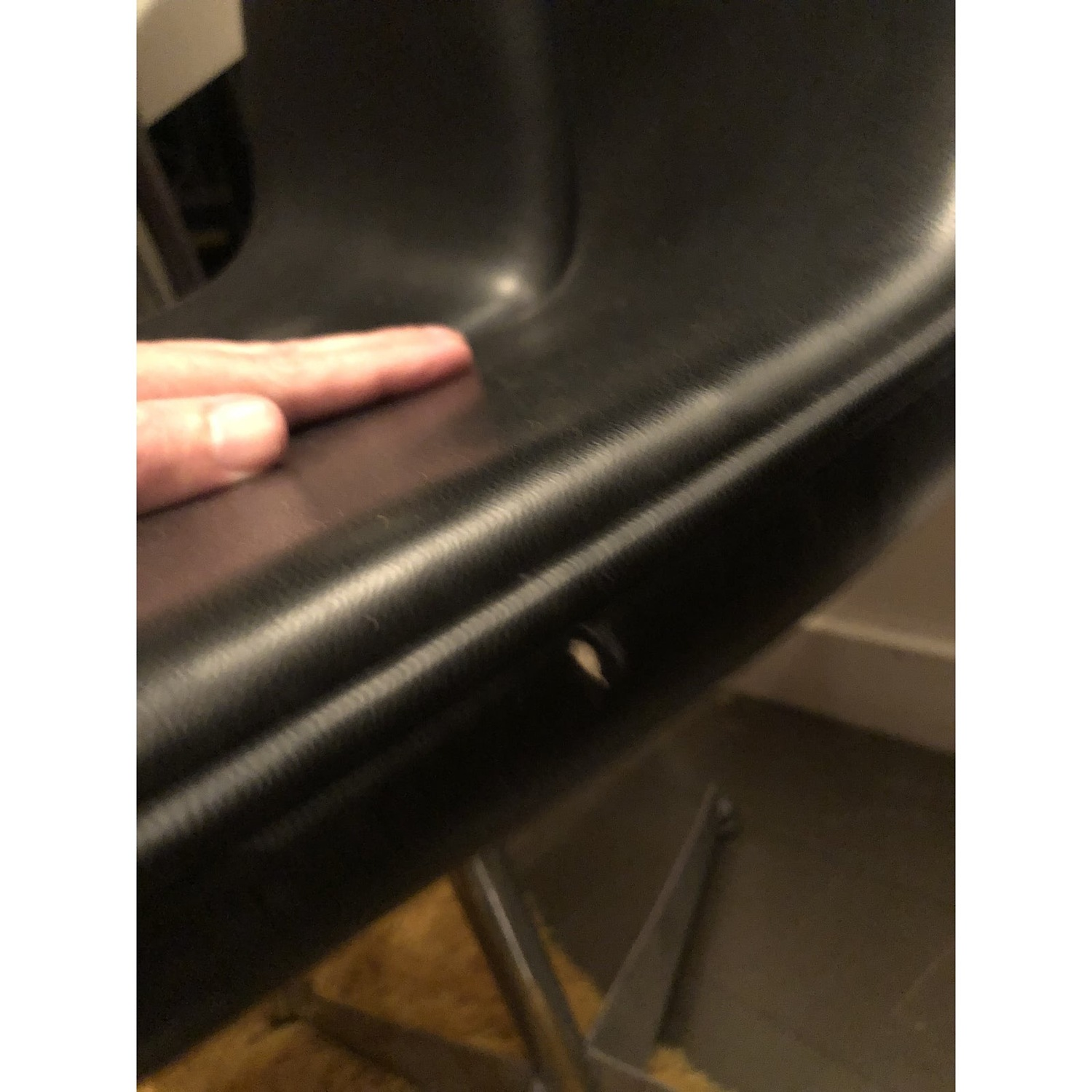 Mid Century Knoll Leather Dining Swivel Chair - image-7