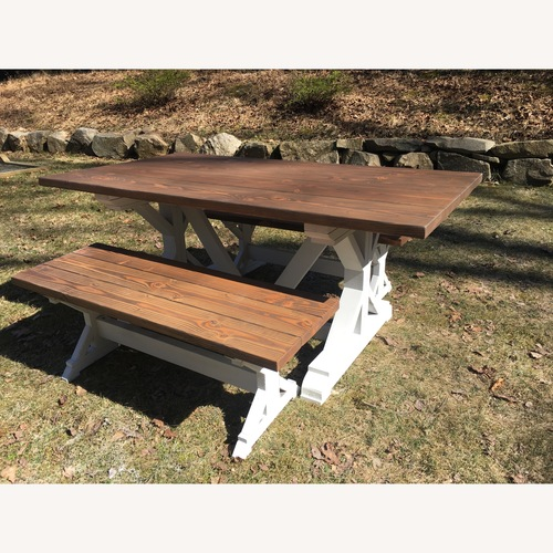 Used Trestle Table and Benches for sale on AptDeco