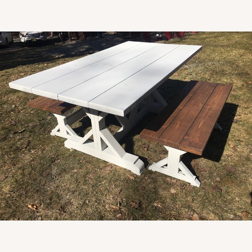 Used Base Table and Benches for sale on AptDeco