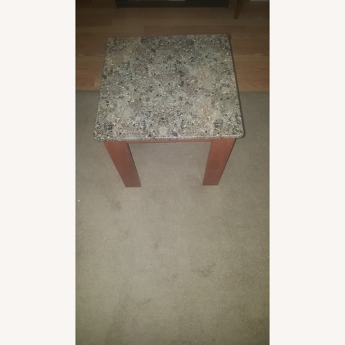 Used Case Furniture Elegant Marble Finish Side Tables for sale on AptDeco