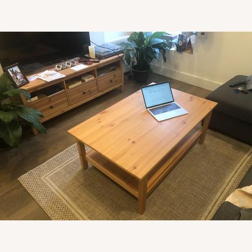 Used IKEA Natural Wood Coffee Table for sale on AptDeco