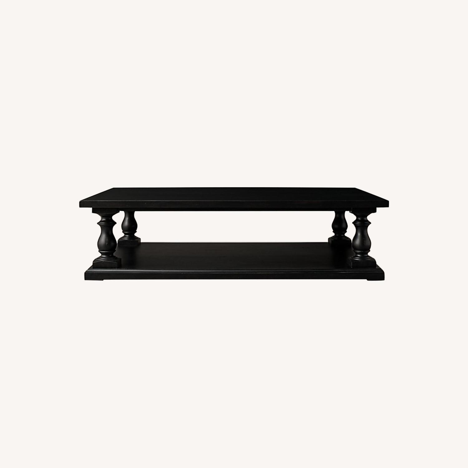 Restoration Hardware Dark Brown Coffee Table - image-0