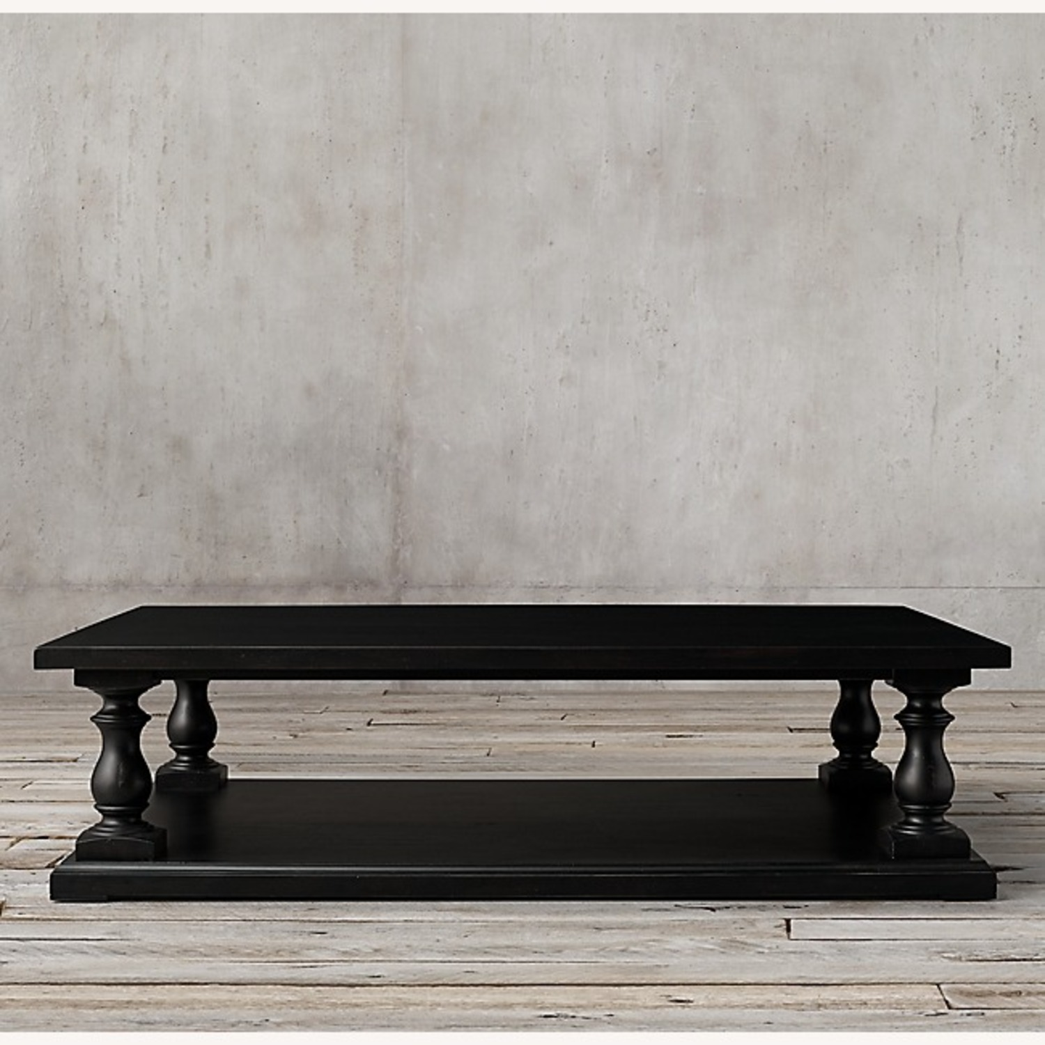 Restoration Hardware Dark Brown Coffee Table - image-1