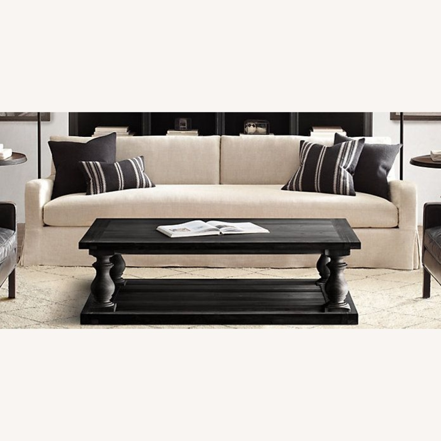 Restoration Hardware Dark Brown Coffee Table - image-2