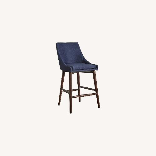 Used InspireQ Blue Counter Height Chair for sale on AptDeco