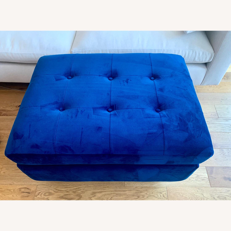 Joybird Cobalt Blue Velvet Eliot Storage Ottoman - image-3
