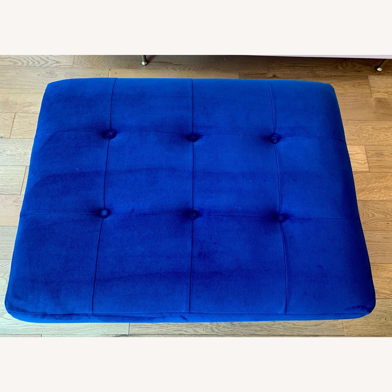 Joybird Cobalt Blue Velvet Eliot Storage Ottoman - image-4