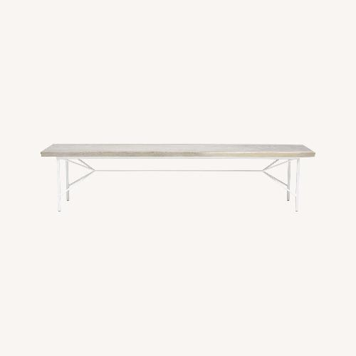 Used Taylor Made Reclaimed Wood Bench White for sale on AptDeco