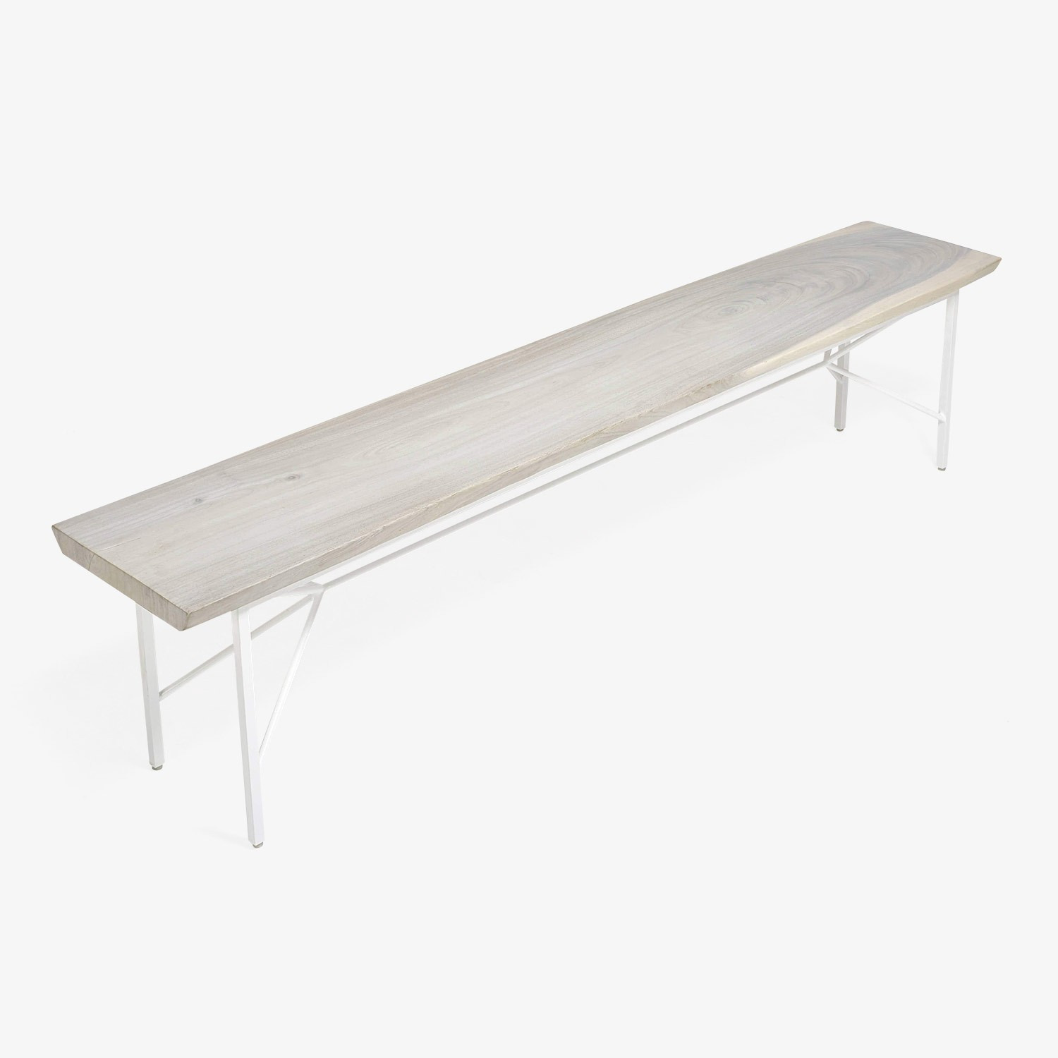 Taylor Made Reclaimed Wood Bench White - image-2