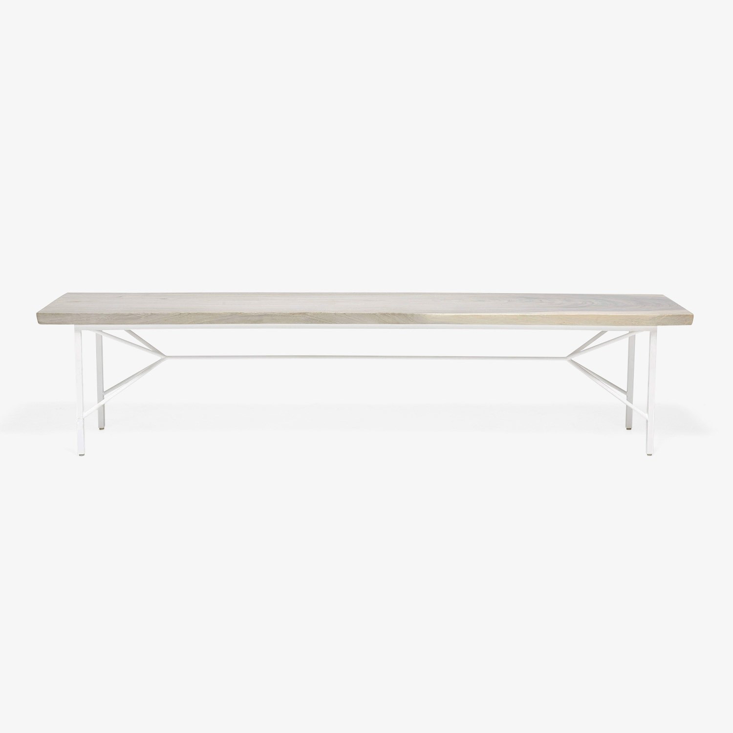 Taylor Made Reclaimed Wood Bench White - image-1
