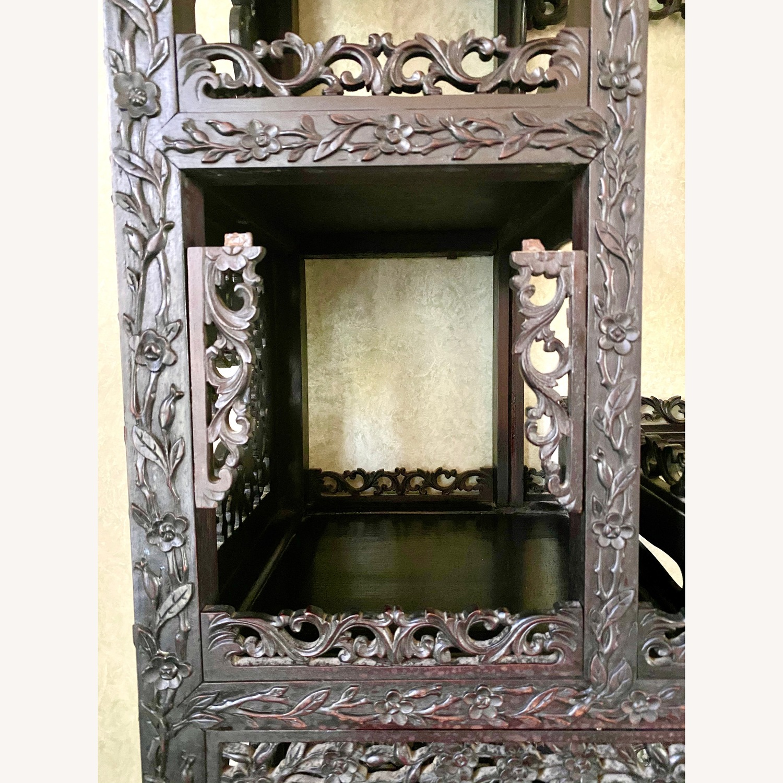 Qing Dynasty Zitan Curio Cabinet - image-6
