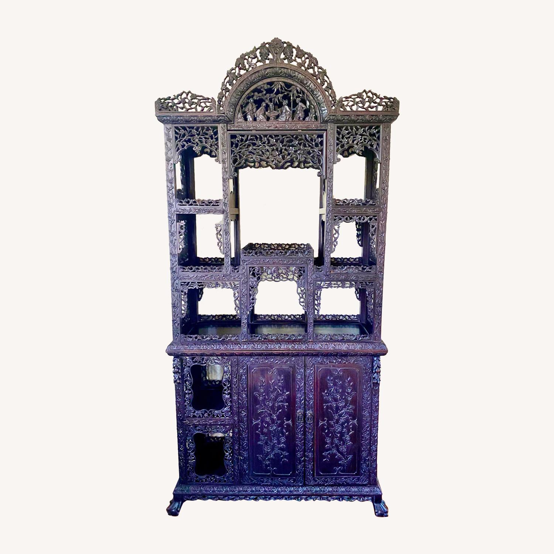 Qing Dynasty Zitan Curio Cabinet - image-0