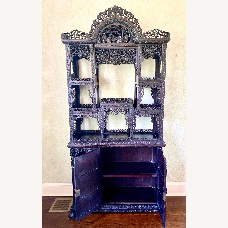 Qing Dynasty Zitan Curio Cabinet - image-11