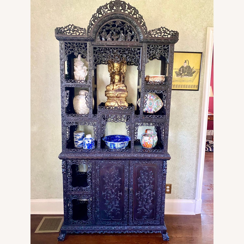 Qing Dynasty Zitan Curio Cabinet - image-3