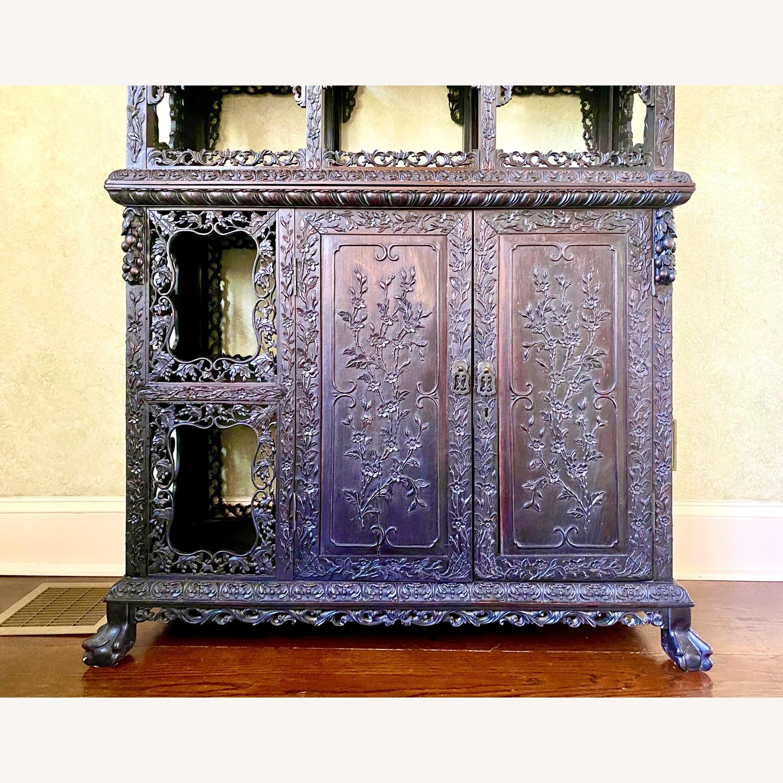 Qing Dynasty Zitan Curio Cabinet - image-2