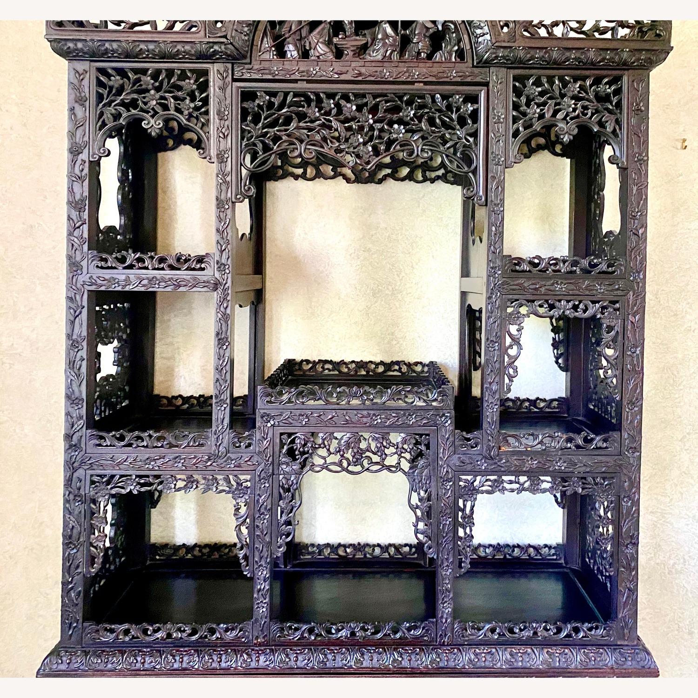 Qing Dynasty Zitan Curio Cabinet - image-4
