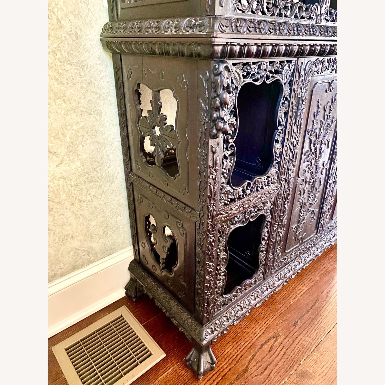 Qing Dynasty Zitan Curio Cabinet - image-8