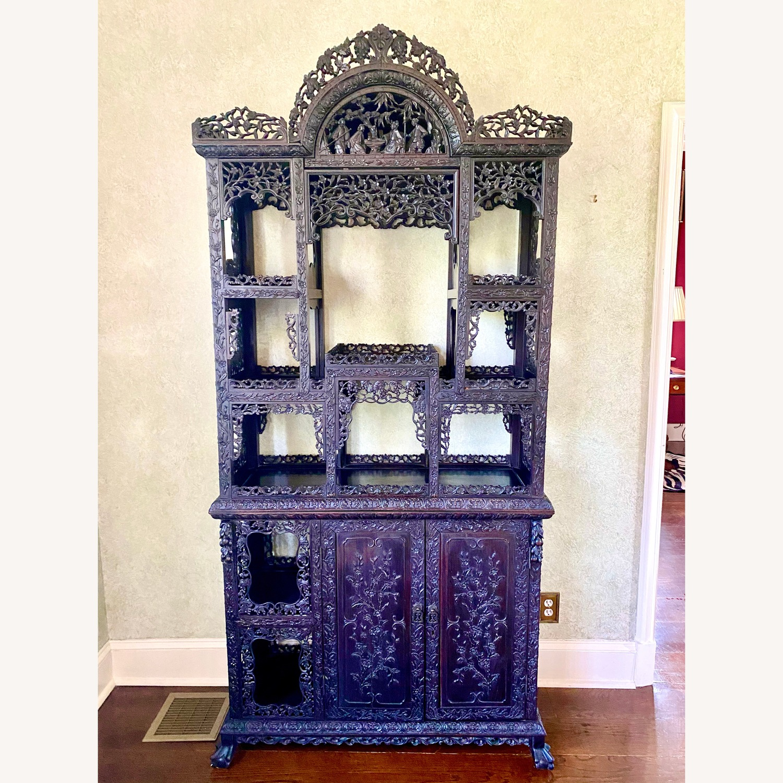 Qing Dynasty Zitan Curio Cabinet - image-1