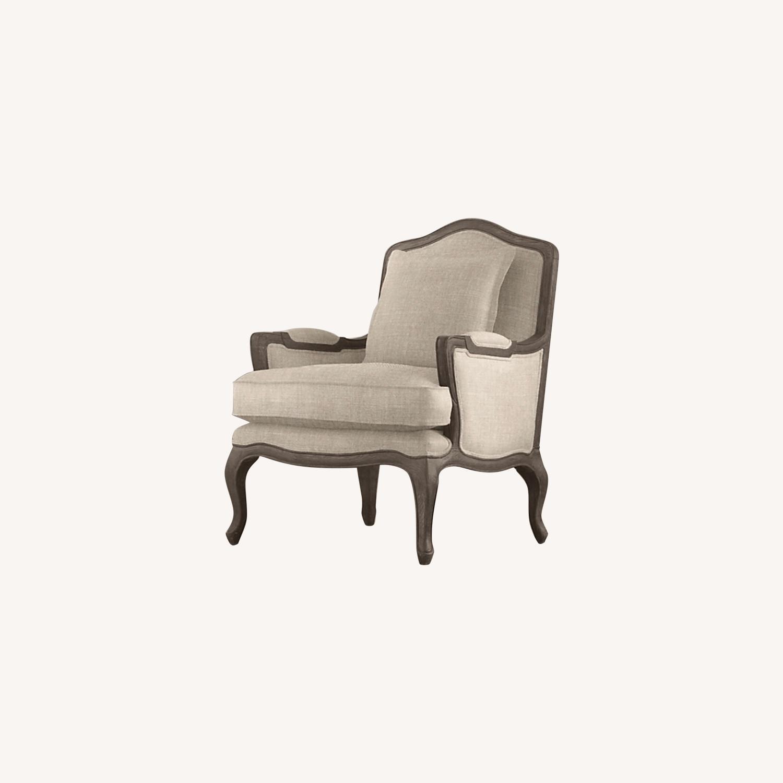 Restoration Hardware Marsailles Chair & Ottoman - image-0