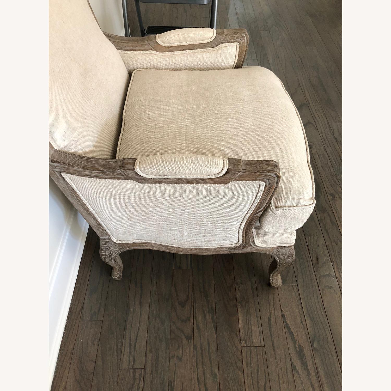 Restoration Hardware Marsailles Chair & Ottoman - image-4