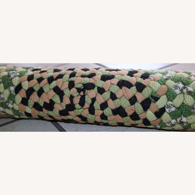 Handmade Vintage American Braided Sit Covers Rugs - image-1