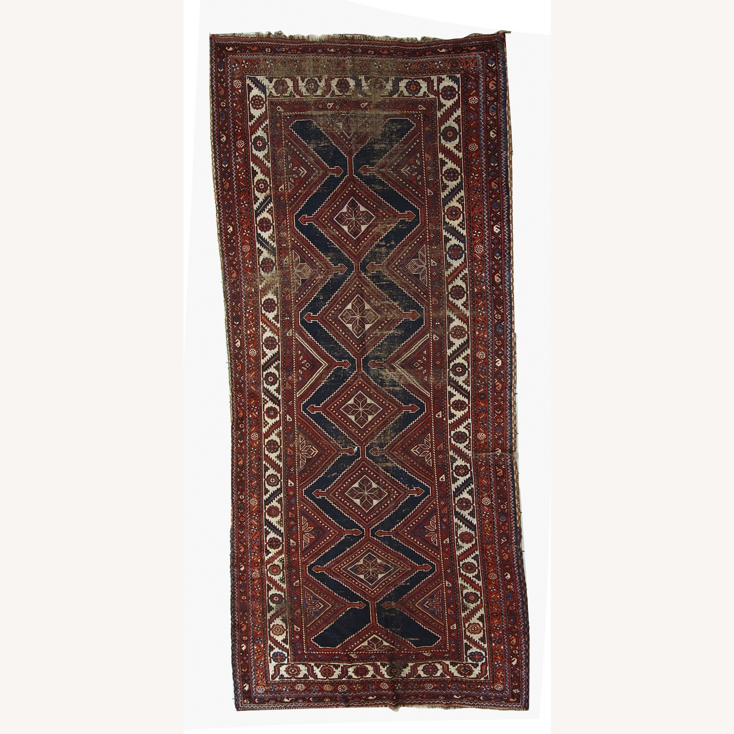Handmade Antique Distressed Persian Shiraz Rug - image-1