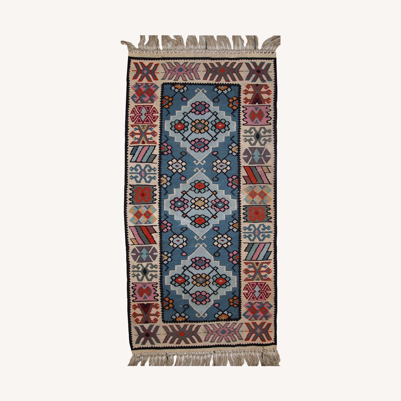 Handmade Vintage Turkish Kayseri Kilim - image-0