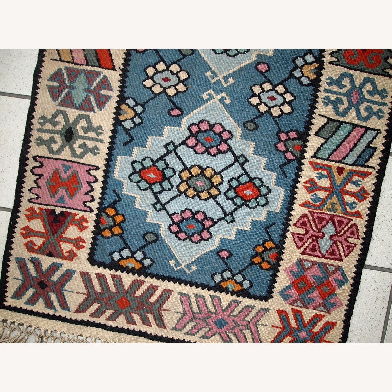 Handmade Vintage Turkish Kayseri Kilim - image-6