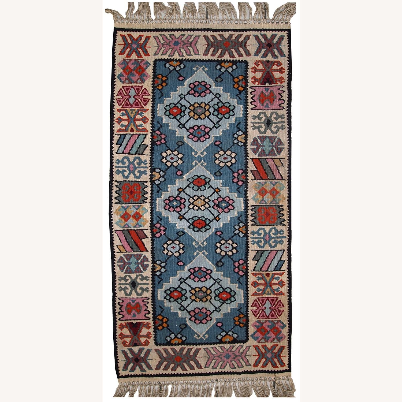 Handmade Vintage Turkish Kayseri Kilim - image-5