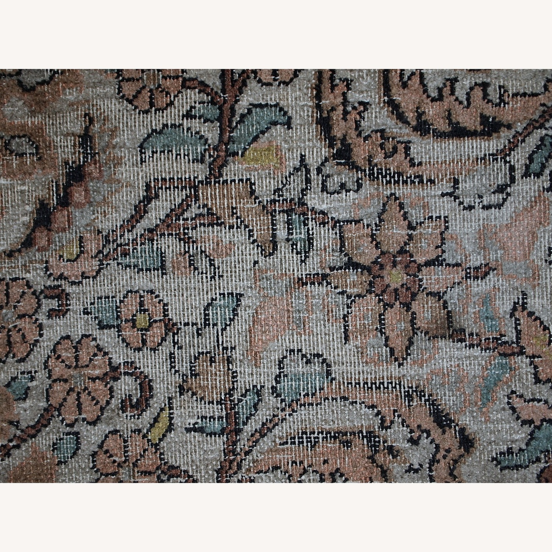 Handmade Vintage Silk Indo-Tabriz Rug - image-3