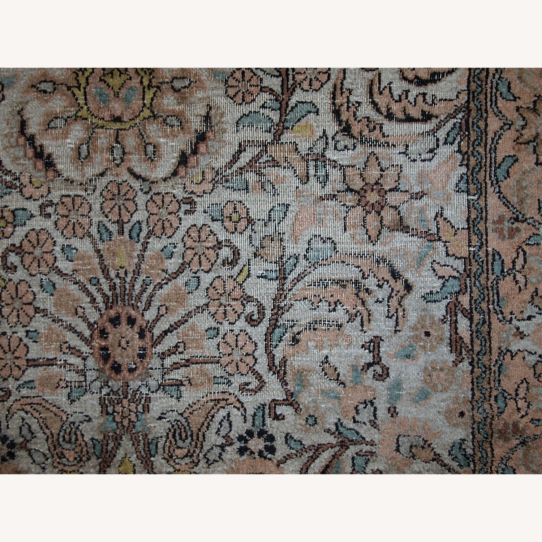 Handmade Vintage Silk Indo-Tabriz Rug - image-5
