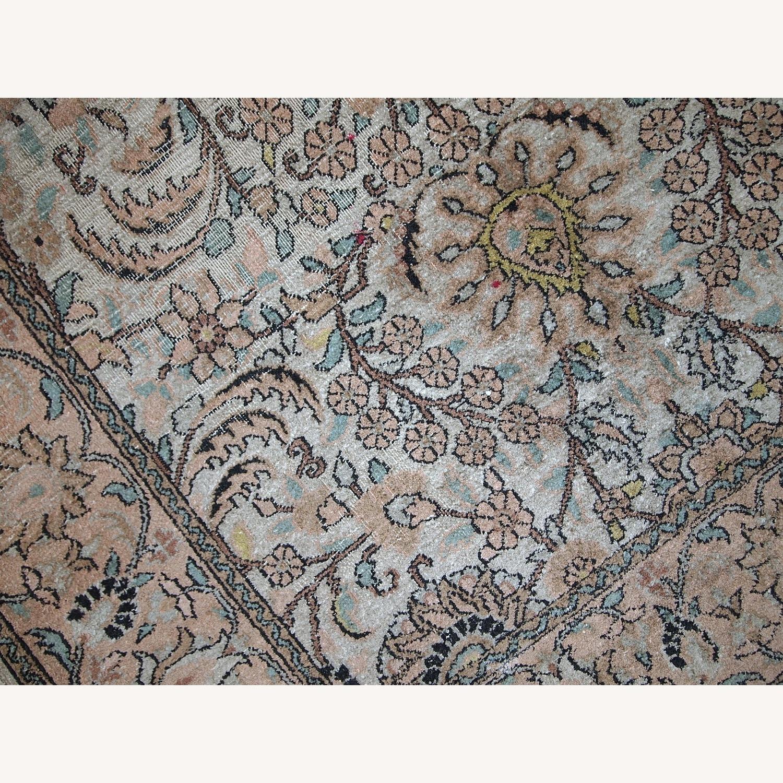Handmade Vintage Silk Indo-Tabriz Rug - image-7