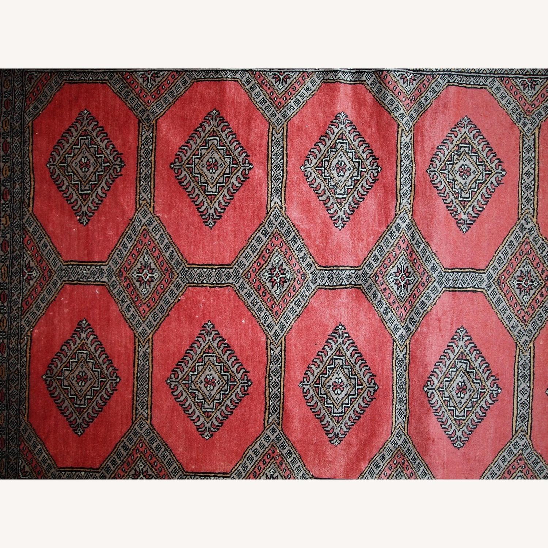 Handmade Vintage Uzbek Bukhara Rug - image-4
