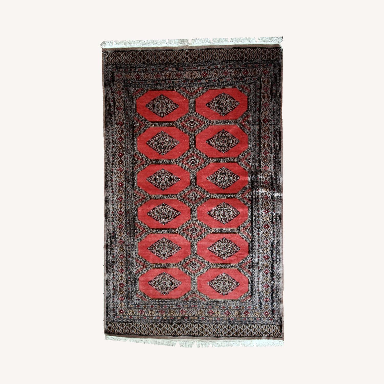 Handmade Vintage Uzbek Bukhara Rug - image-0