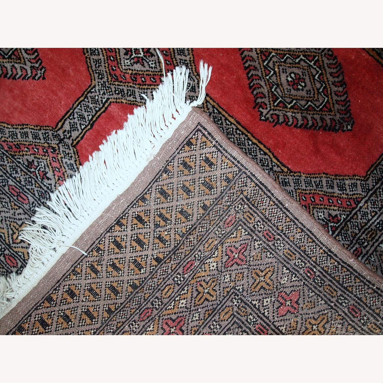Handmade Vintage Uzbek Bukhara Rug - image-3