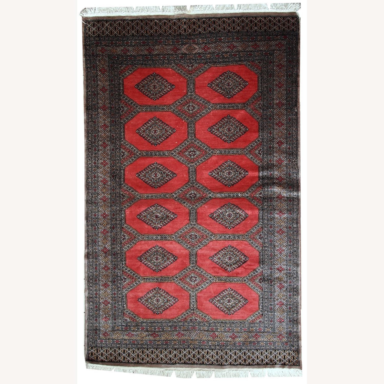 Handmade Vintage Uzbek Bukhara Rug - image-9