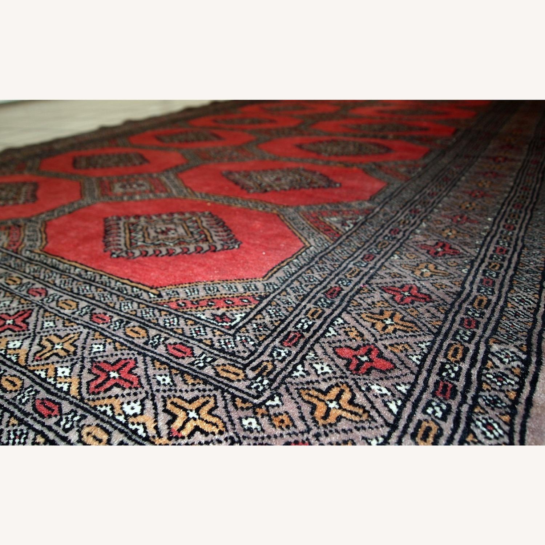 Handmade Vintage Uzbek Bukhara Rug - image-1
