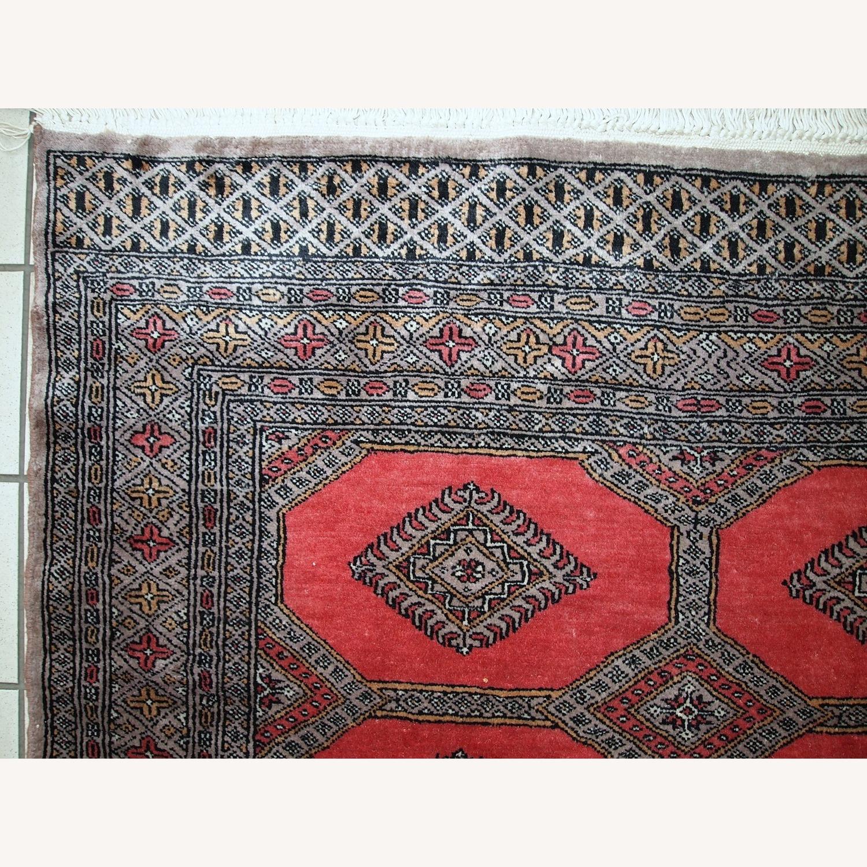 Handmade Vintage Uzbek Bukhara Rug - image-7