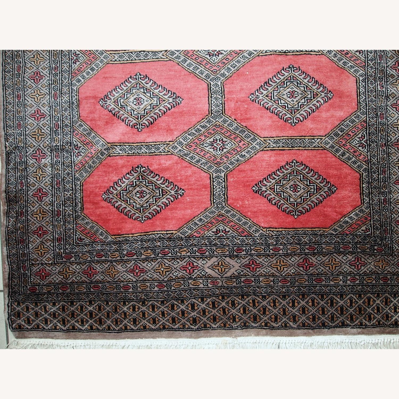 Handmade Vintage Uzbek Bukhara Rug - image-6