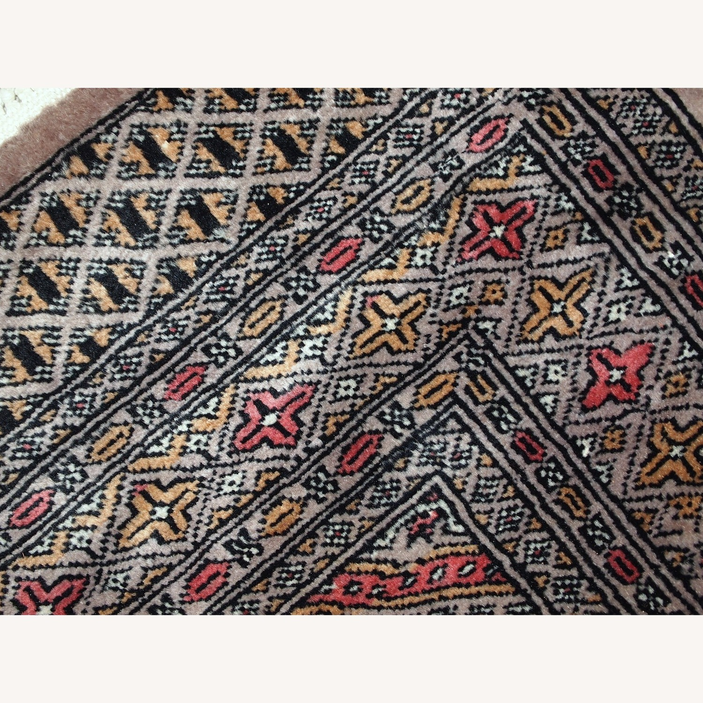 Handmade Vintage Uzbek Bukhara Rug - image-5