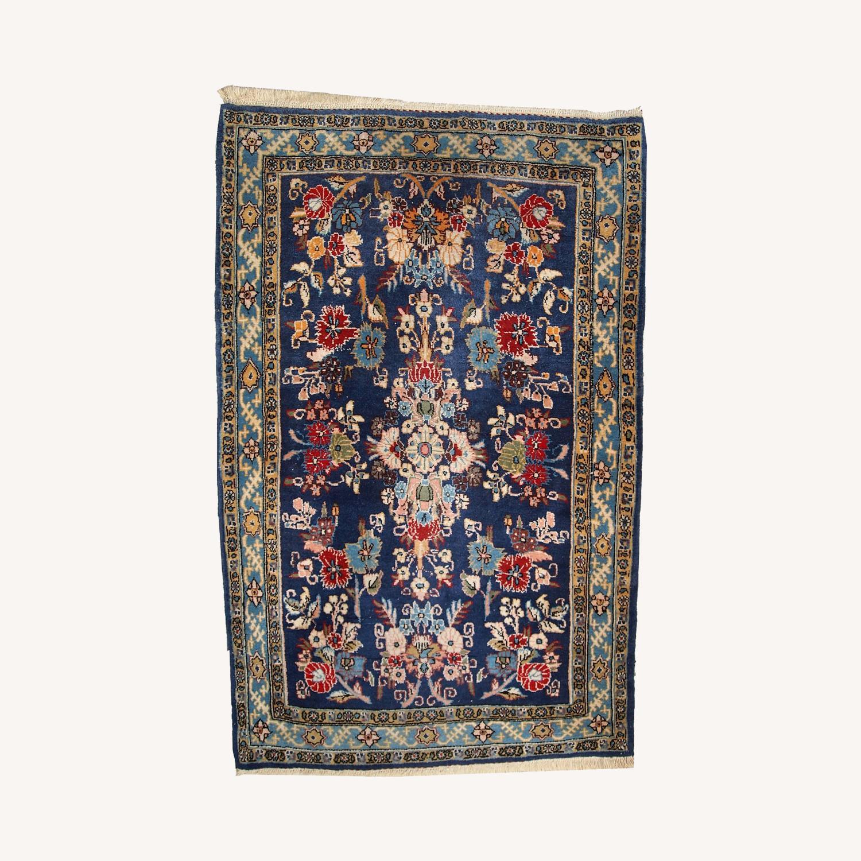 Handmade Vintage Persian Tehran Rug - image-0
