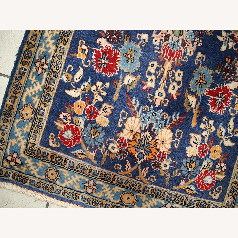 Handmade Vintage Persian Tehran Rug - image-7