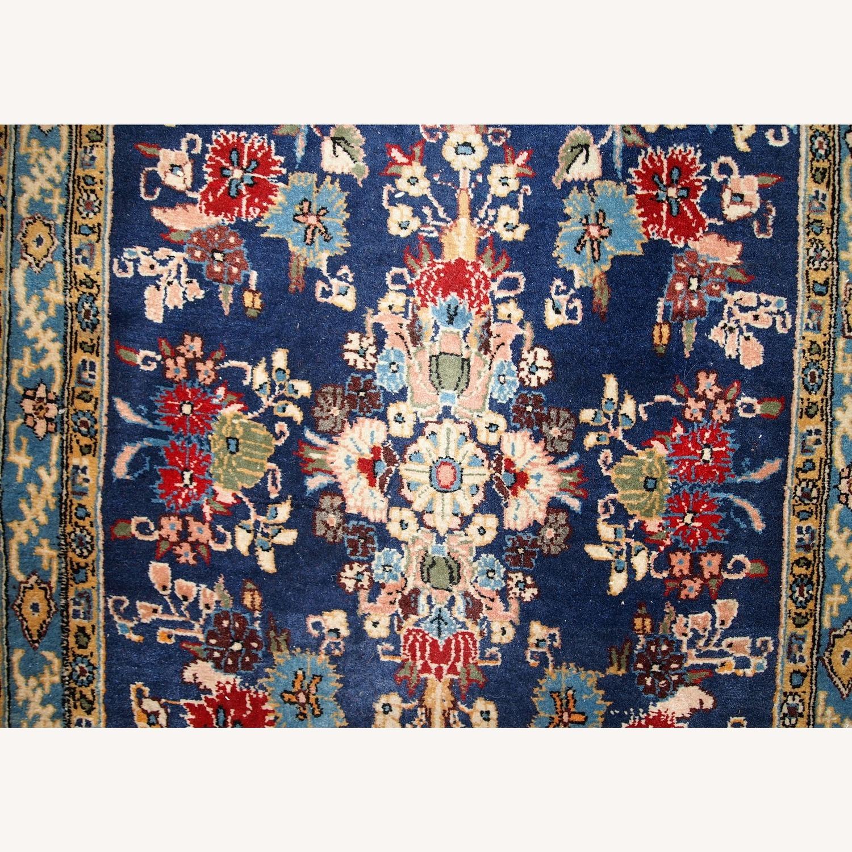 Handmade Vintage Persian Tehran Rug - image-3